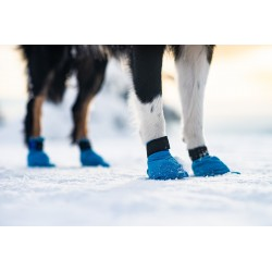 Blue Snow Booties