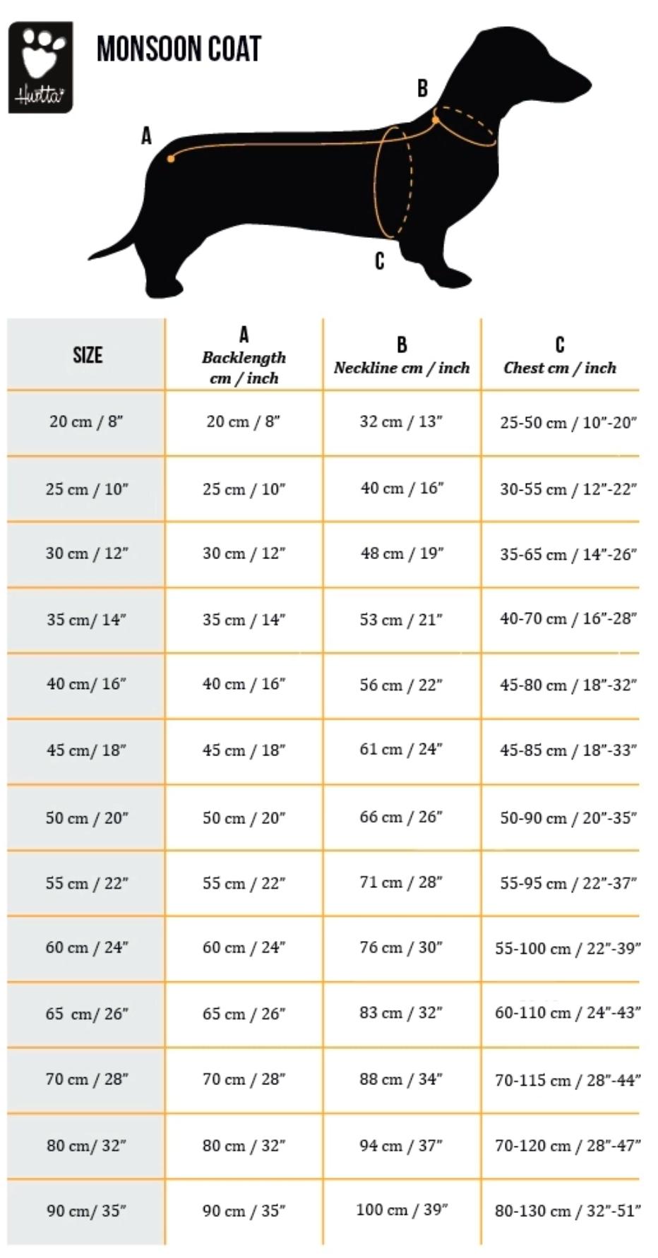 Monsoon Coat Sizes