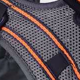 Negro con detalle Naranja
