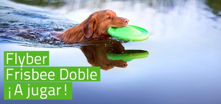 Flyber - Frisbee Doble per jugar amb el teu gos!